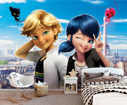Miraculous Non-Woven photo wallpaper Marinette & Adrien